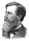 Henry W Blair 1834-1920 he was an American politician and United States representative and senator from New Hampshire vintage line drawing or engraving illustration