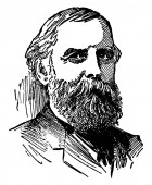 Lyman J Gage 1836 -1927 he was an American financier and presidential cabinet officer secretary of the treasury and president of the first national bank vintage line drawing or engraving illustration