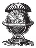 Copernicus or Nicholas Koppernigk was the founder of modern astronomy vintage line drawing or engraving illustration