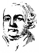 Francis Lewis 1713-1802 he was a signer of the United States declaration of Independence as a representative of New York vintage line drawing or engraving illustration