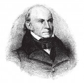 John Quincy Adams 1767-1848 he was the sixth president of the United States from 1825 to 1829 vintage line drawing or engraving illustration