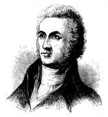 William Richardson Davie 1756-1820 he was a military officer and tenth governor of North Carolina from 1798 to 1799 founder of the university of North Carolina member of the federalist party vintage line drawing or engraving illustration