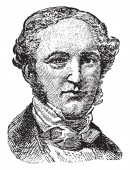 George Prentice 1802-1870 he was the editor of the Louisville Journal vintage line drawing or engraving illustration