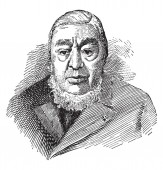 Paul Kruger 1825-1904 he was the president of the South African republic from 1883 to 1900 vintage line drawing or engraving illustration