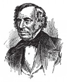 Zachary Taylor, 1784-1850, he was the president of the United States from 1849 to 1850, vintage line drawing or engraving illustration