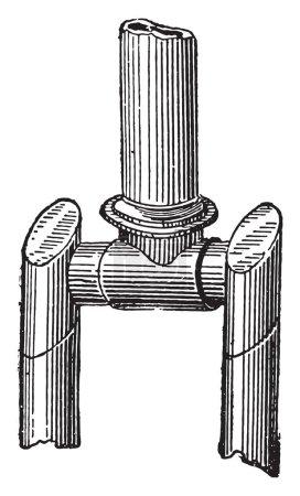 Crank, vintage engraved illustration. Industrial e...