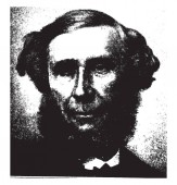 John Tyndall 1820-1893 he was a prominent nineteenth-century Irish physicist famous for the Tyndall effect vintage line drawing or engraving illustration