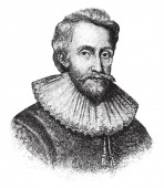 Sir Edwin Sandys, 1561-1629, he was an English politician, vintage line drawing or engraving illustration