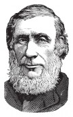 Prof John Tyndall 1820-1893 he was a prominent nineteenth-century Irish physicist famous for the Tyndall effect vintage line drawing or engraving illustration