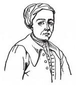 Samuel Richardson 1689-1761 he was an English writer and printer vintage line drawing or engraving illustration