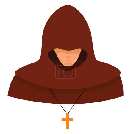 Inquisitor, illustration, vector on white background.