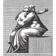 Seated Woman with Child, Adamo Scultori, after Mic...
