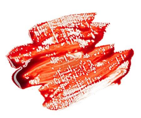 Blood isolated on white background
