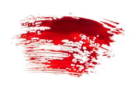 Blood splatter isolated on white background