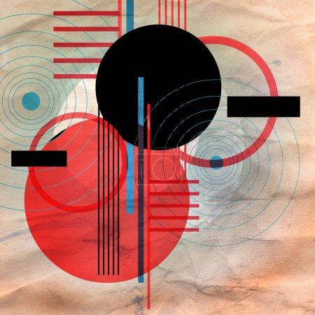 Photo pour Illustration abstraite du design moderne des cercles et des lignes. Composition géométrique pour affiches, affiches ou pages web . - image libre de droit