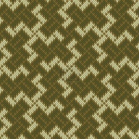 Illustration pour Ancien symbole sacré de la croix gammée balinaise. Modèle de laine tricoté sans couture - image libre de droit