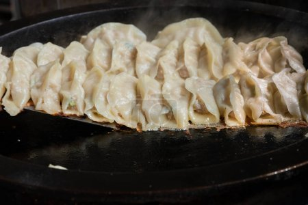 Photo for Delicious Chinese food, Gyoza dumplings - Royalty Free Image