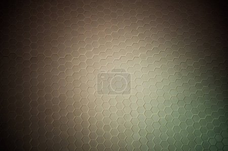Photo for A simple white texture pattern of hexagons as a background - Royalty Free Image
