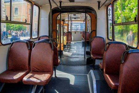 Photo pour Sièges en bus, concept de transport public - image libre de droit