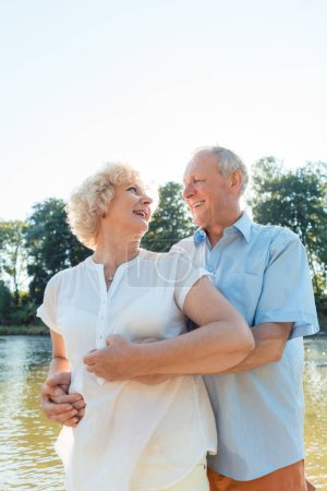 Romantic senior couple enjoying a healthy and active lifestyle