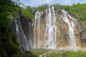 Plitvice Lakes National Park, Croatia. Small waterfalls
