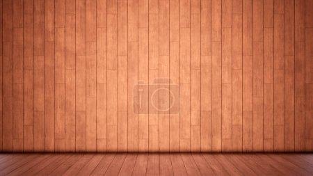 Concepto o conceptual vintage o grungy fondo marrón de madera natural o madera vieja textura piso y pared como un diseño de patrón retro. Una metáfora de la ilustración 3d con el tiempo, el material, el vacío, la edad o el óxido