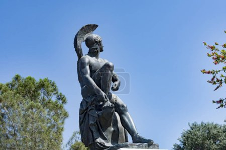 Statue of Theseus at theseion area of Athens in Gr...