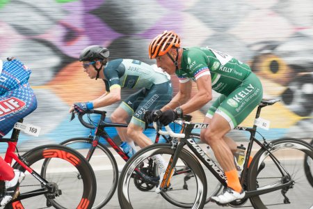 Photo for ARLINGTON JUNE 10: Cyclists compete in the elite mens race at the Armed Forces Cycling Classic on June 10, 2018 in Arlington, VA - Royalty Free Image