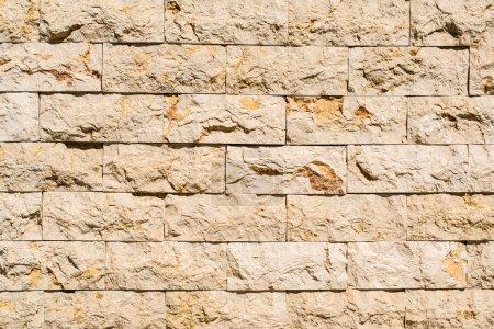 Closeup of stone bricks wall texture.