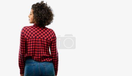 Beautiful arab woman backside, rear view