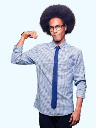 Young african american business man with afro hair...