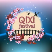 Qixi or Tanabata festival Vector illustration