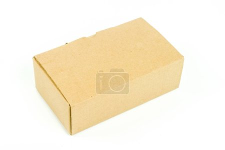 Photo for Close up view of opened cardboard box on white background - Royalty Free Image