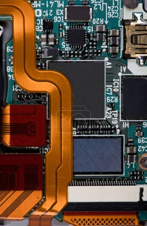 Photo for Macro view of Electronic chip background - Royalty Free Image