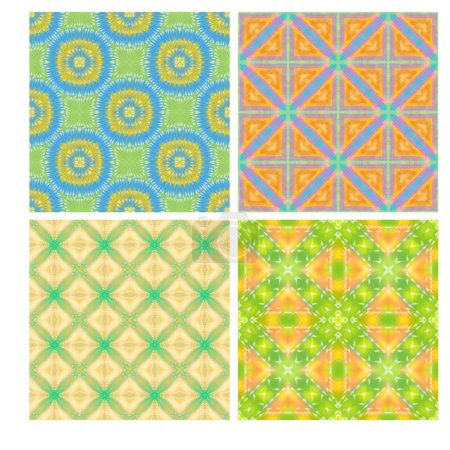 Colorful seamless tiling textures collection