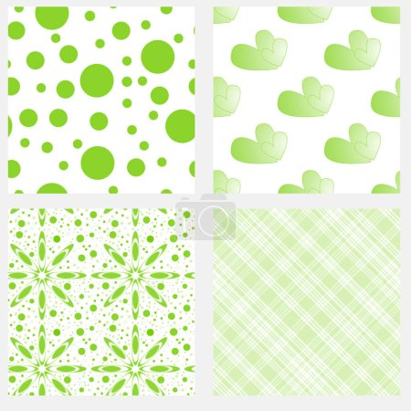 Green and white seamless tiling textures
