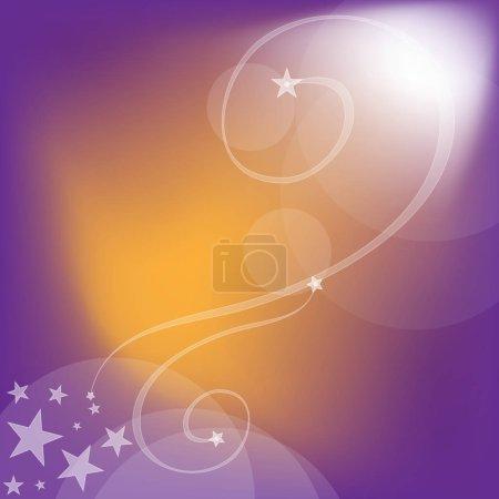 Foto de Fondos lilacos y naranjos con rizos y estrellas - Imagen libre de derechos