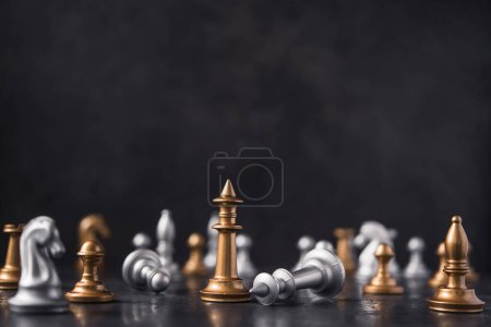 Falls and defeats of the king in a chess game....