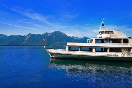 Photo pour Lac Léman Bateau Genève en Suisse Suisse - image libre de droit