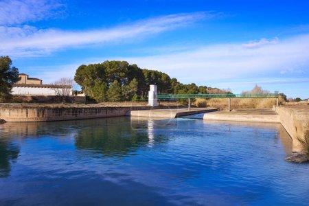 La presa dam in Turia river park of Valencia in Spain