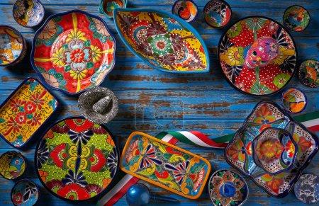 Foto de Alfarería mexicana estilo Talavera de Puebla en México - Imagen libre de derechos