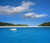 Islas Cies islands near Vigo of Galicia Spain