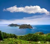 Islas Cies islands San Martino island in Vigo of Galicia Spain
