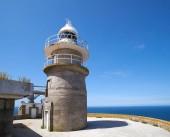 Islas Cies islands lighthouse Faro Cies in Vigo of Galicia