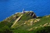 Islas Cies islands lighthouse Faro da Porta in Vigo Spain