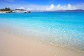 Praia de Rodas beach in islas Cies island of Vigo at Spain