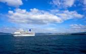 Islas Cies islands view from the sea of Vigo at Spain