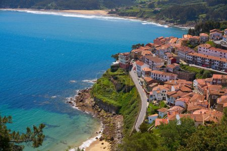 Lastres Colunga village in Asturias of Spain