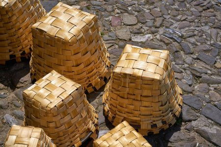Potes traditional baskets in Cantabria of Spain