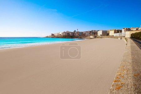 La Coruna Riazor beach in Galicia of Spain
